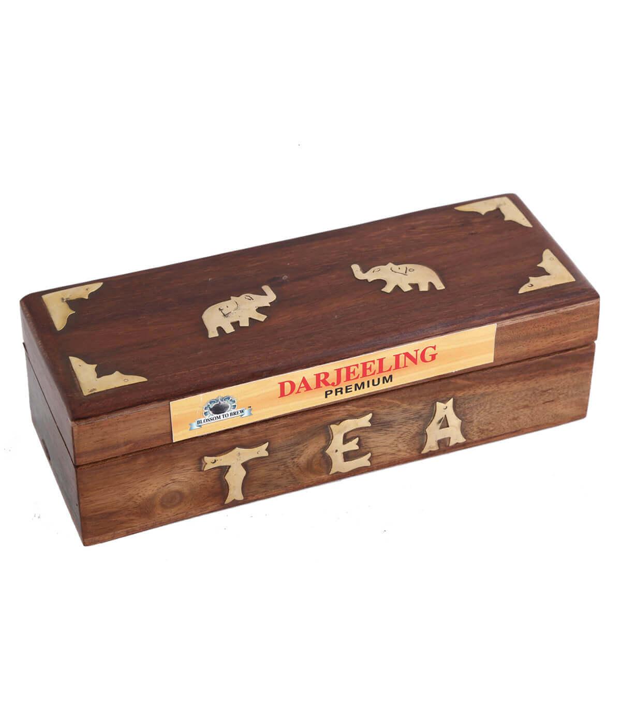 Buy Darjeeling Tea Wooden Box At Hyderabad Duty Free